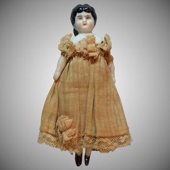 "5"" Dollhouse China Doll w/ Original Clothing"