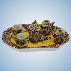 Gorgeous Vintage/ Antique De Sevres 9 Piece Dollhouse Tea Set