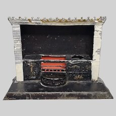 Antique Soft Metal Dollhouse Stove With Cooktop and Faucet