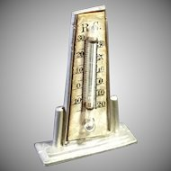 Old Dollhouse Metal Thermometer, Germany