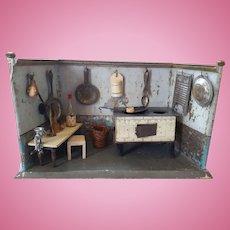 Early Small German Tin Nuremberg Kitchen, Accessories