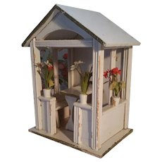 Rare Gottschalk German Dollhouse Garden House Gazebo