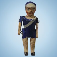 """2"""" Tiny Jointed Wood Soldier or Sailor Doll"""