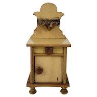 Vintage German Light Wood Dollhouse Night Stand