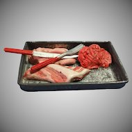 Miniature Vintage Tray of Butcher Meats