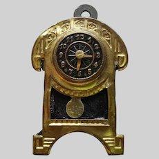 Art Nouveau Ormolu Dollhouse Clock Erhard & Sohne