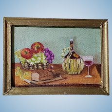 Original Still Life Oil Painting for the Dollhouse