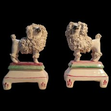 Lovely Pair of Miniature Staffordshire Poodles