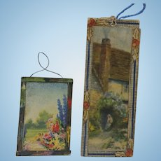 Dollhouse Picture, Our Lady of Lourdes, Holly Frame