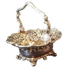 Artisan Sterling Silver Dollhouse Pierced Basket Figural Handle