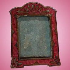 Miniature Red Guilloche Enamel Art Nouveau Frame