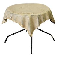 Vintage English Round Metal Cafe Table For The Dollhouse