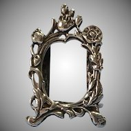Dollhouse Sized Miniature Sterling Silver Marked Picture Frame