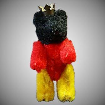 Unusual Multicolor Schuco Berlin Bear W/ Crown