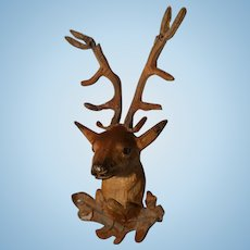 Dollhouse- German Soft Metal Mounted Stag Head