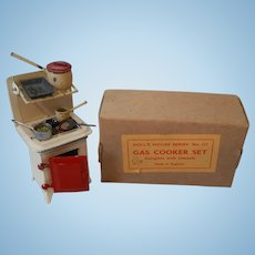 Vintage Taylor and Barrett Dollhouse Stove Original Box