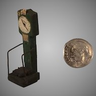 "Tiny 1 1/2"" Tall Wood Scale with Detailed Dials"