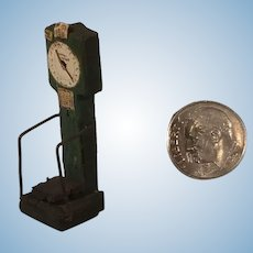 """Tiny 1 1/2"""" Tall Wood Scale with Detailed Dials"""