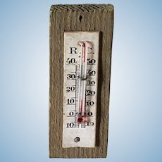 Vintage German Wood Dollhouse Thermometer