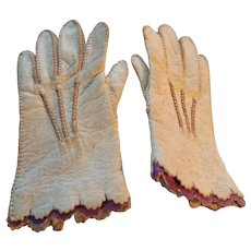 Wonderful Tiny Antique Kid Gloves for a Fashion Doll
