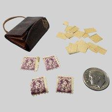 Antique Fashion Doll Clutch Portfolio With Original Punch Stamps