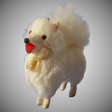 Vintage Small Fur Covered Spitz Dog