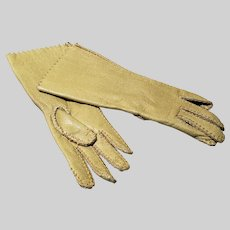 Fawn Leather Fashion Doll Gloves