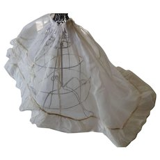 Antique Cotton Batiste Bustle Slip For A Fashion Doll