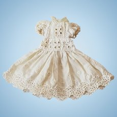 Small Doll Eyelet Cotton Party Dress