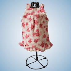 """Adorable Pink and White Floral Print Romper for 6- 1/2"""" - 7- 1/2"""" Doll"""