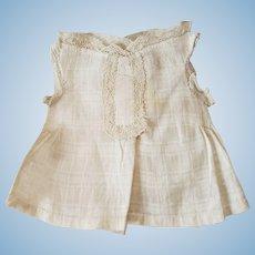 Fashion Doll Windowpane Cotton Sleeveless Blouse
