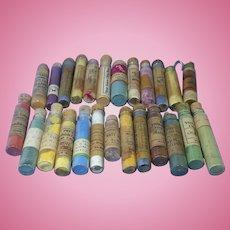 25 Vials of Antique China Paint Pigment Powder