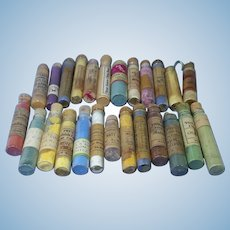 25 Vials of Antique China Paint Pigment Powder