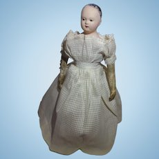 """French Paper Mache Doll Andreas Voit 14 1/2"""" Tall"""