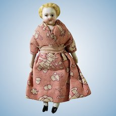 "3- 1/2"" Parian Dollhouse Doll In Original Outfit"