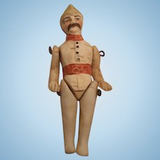 "2"" All Bisque Police Officer Doll"