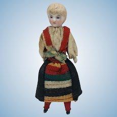 "Adorable 4- 3/4"" Parian Dollhouse Doll"