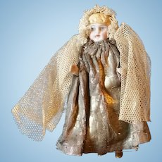 "Original 4""All Bisque Angel Doll in Original Costume"