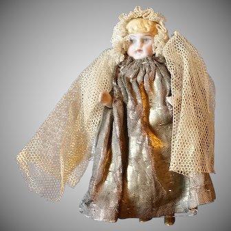 "Original 4""All Bisque Angel Doll in Original Costume"