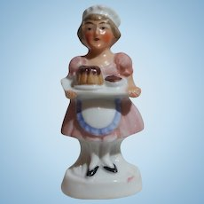 Miniature Porcelain Maid Figurine - Germany