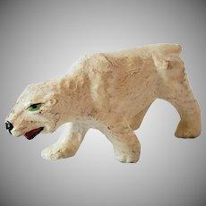 Vintage Composition Polar Bear Figurine Germany
