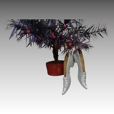 Silver Dresden Ladies Slippers Ornament