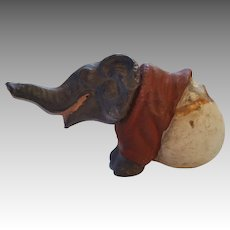 Wonderful Old Elephant in Egg Candy Container