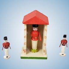 Miniature Erzgebirge Guard House, 3 Guards