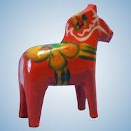 Miniature Red Dala Horse