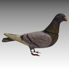 Heavy Plaster Pigeon Candy Container