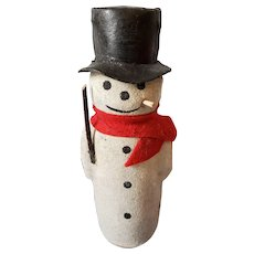 Vintage Snowman Candy Container