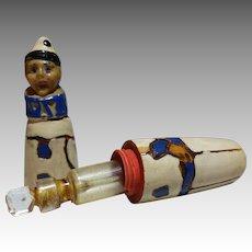 Vintage Wooden Clown Perfume Holder