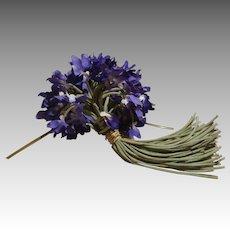Bouquet Of Vintage Violets Milliner Flowers- 70 Stems