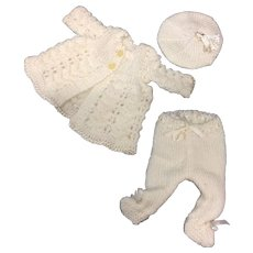 3 Piece Knitted Outfit for All Bisque or Baby Doll